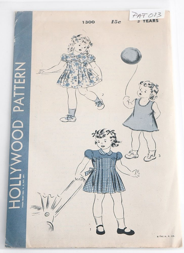 1940s Hollywood 1300 girls pattern