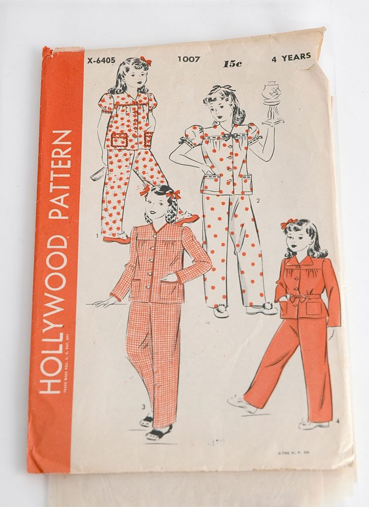 1940s Hollywood pajama pattern 1007