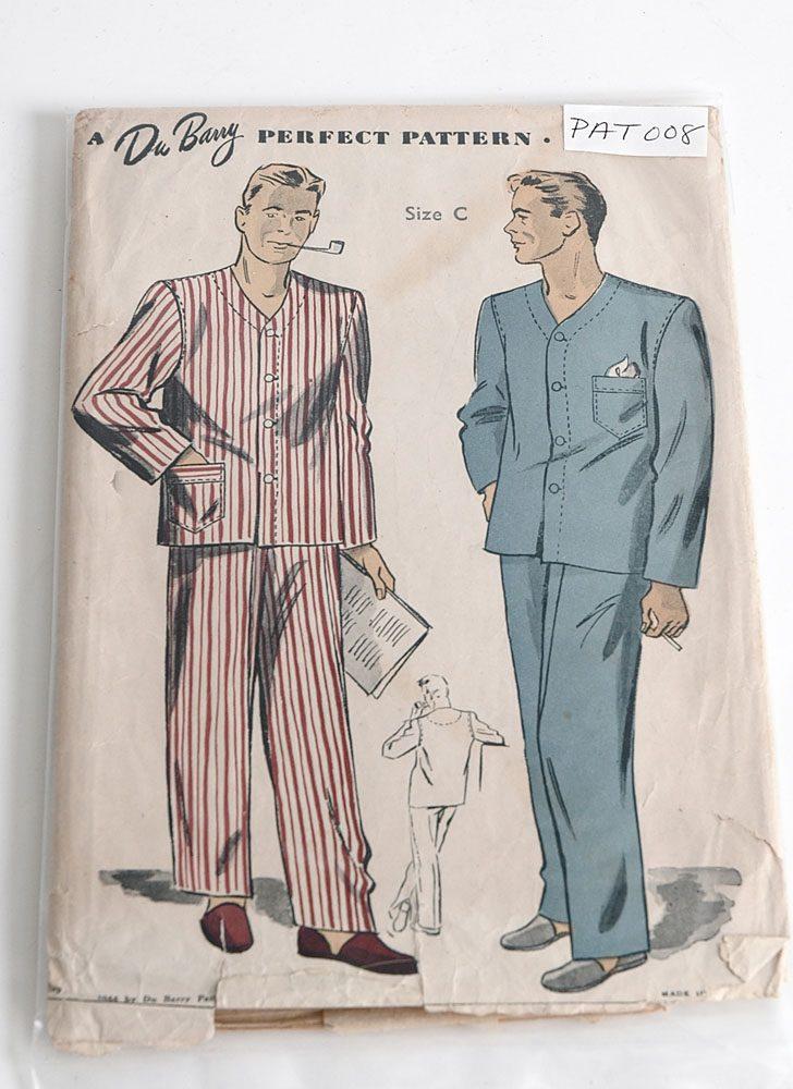1940s DuBarry 5903 men's pajama pattern