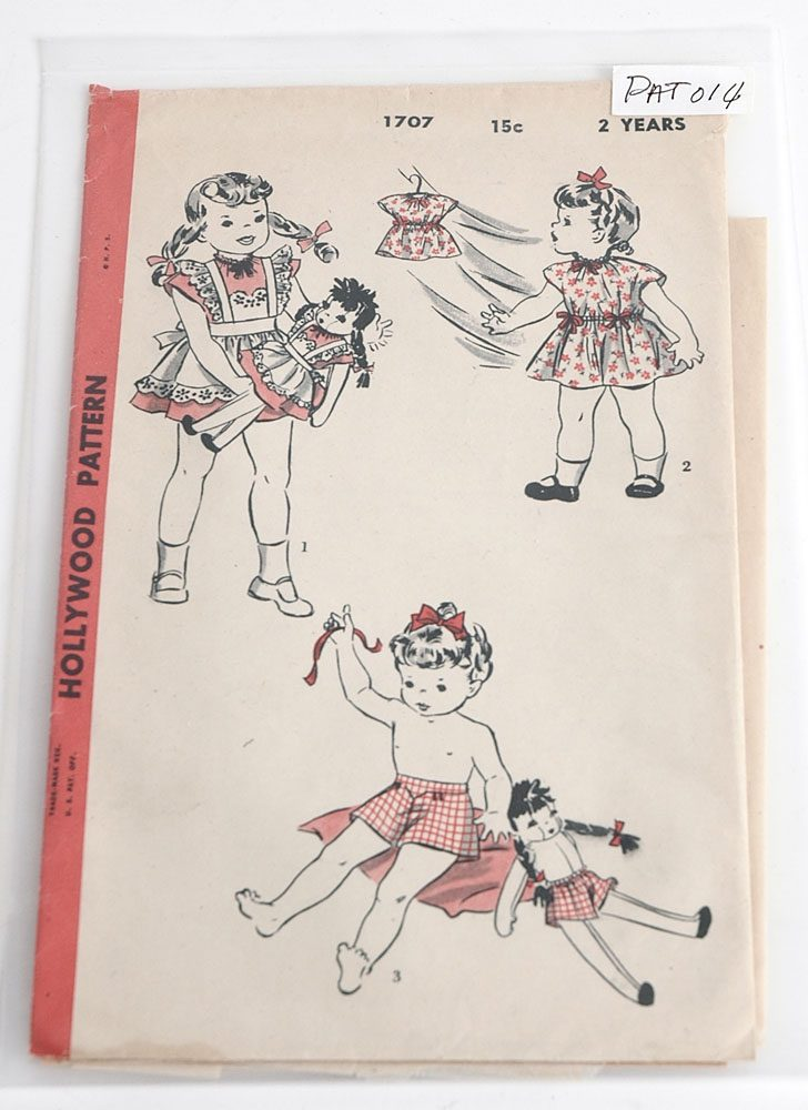 1940s Hollywood 1707 girls pattern