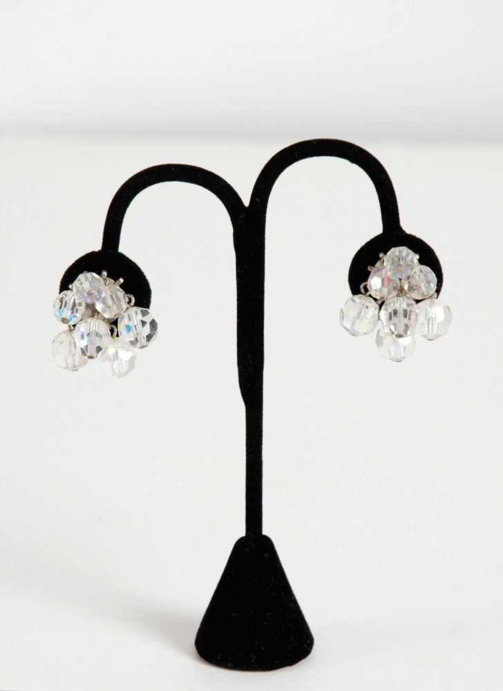 1950s aurora borealis crystal dangle earrings