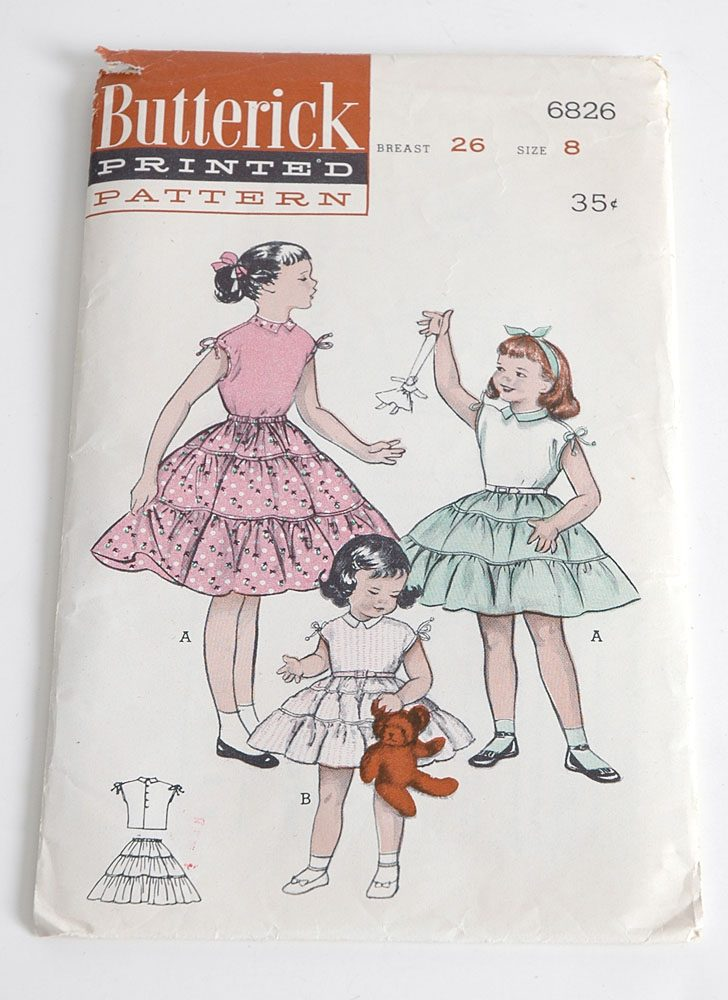 1950s Butterick skirt + blouse pattern 6826