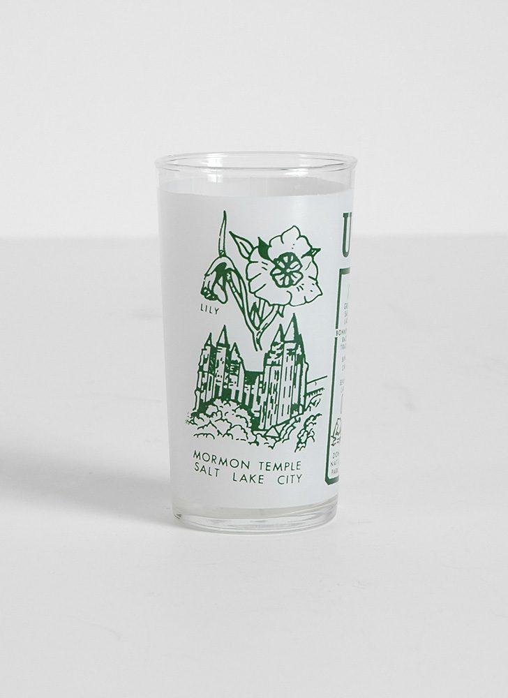 1950s 60s Utah souvenir glass