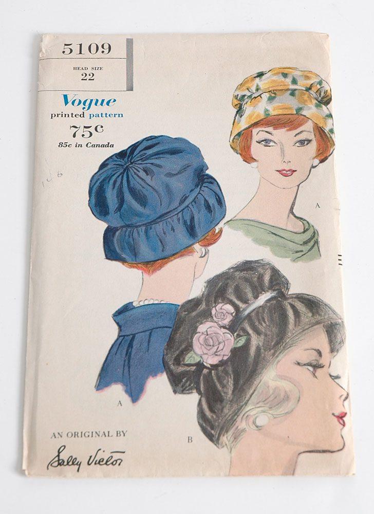 1960s Vogue 5109 hat pattern