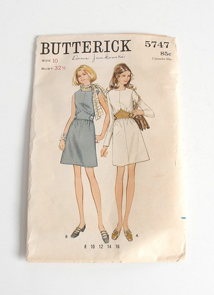 1960s Butterick dress pattern 5747