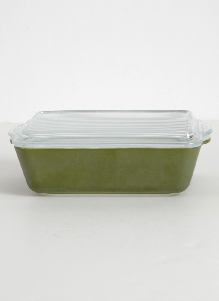 1960s 70s avocado Pyrex container + lid 0503/503-c