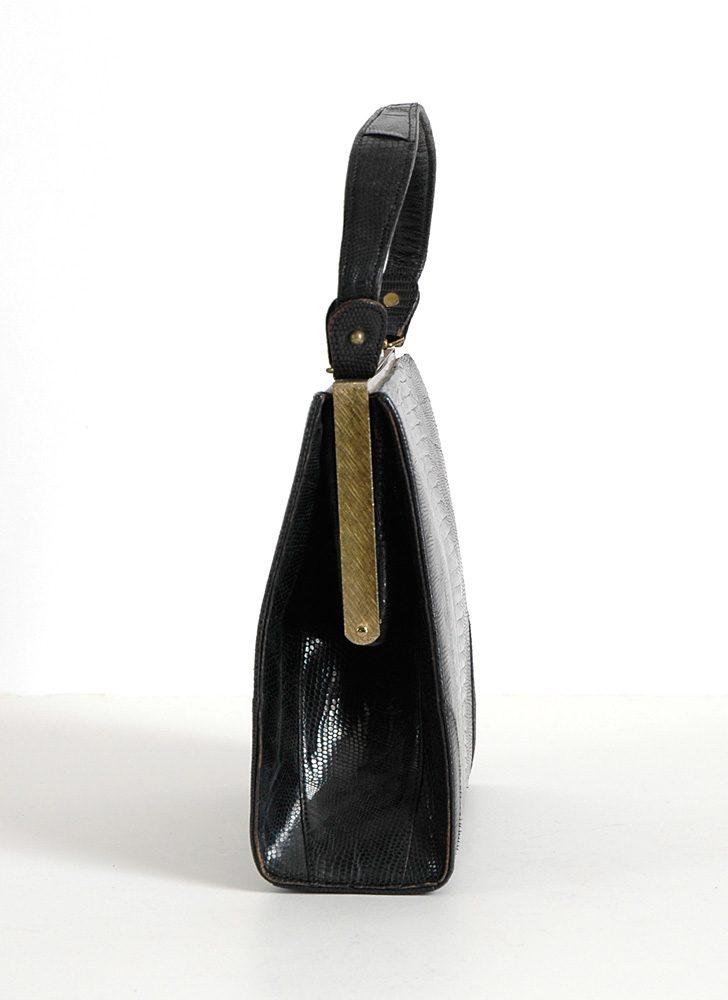 1940s 50s Vassar lizard skin box purse