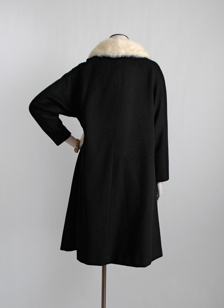 1950s Stewart's mink collar wool coat