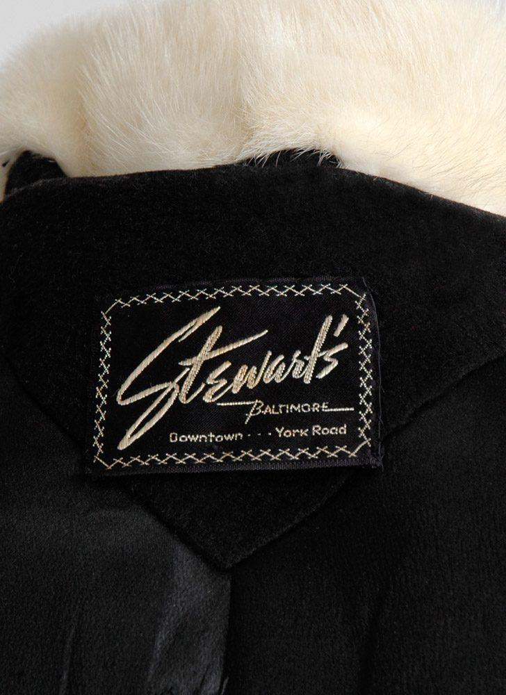 1950s Stewart's mink collar wool coat