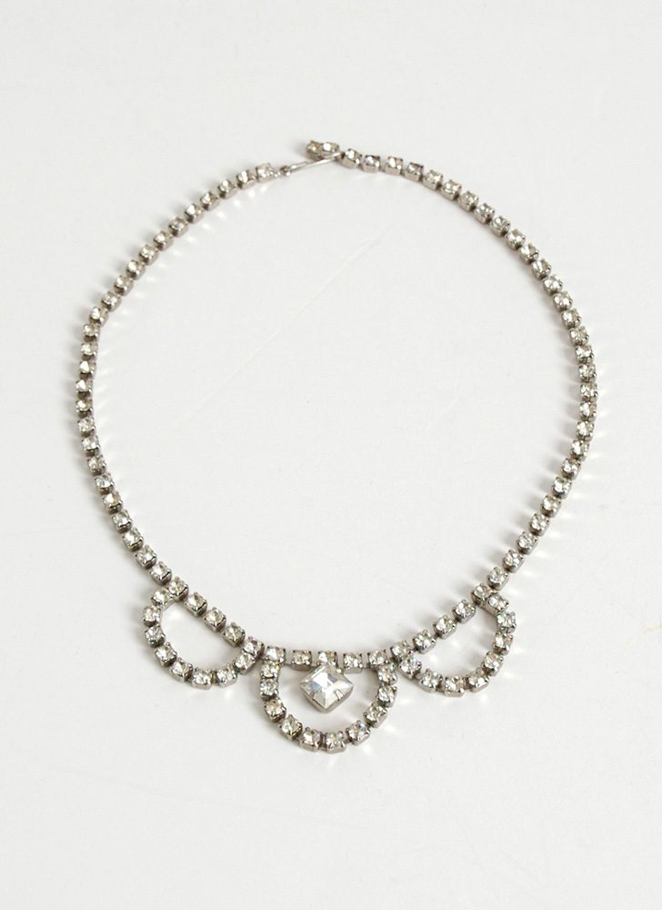 1950s rhinestone necklace