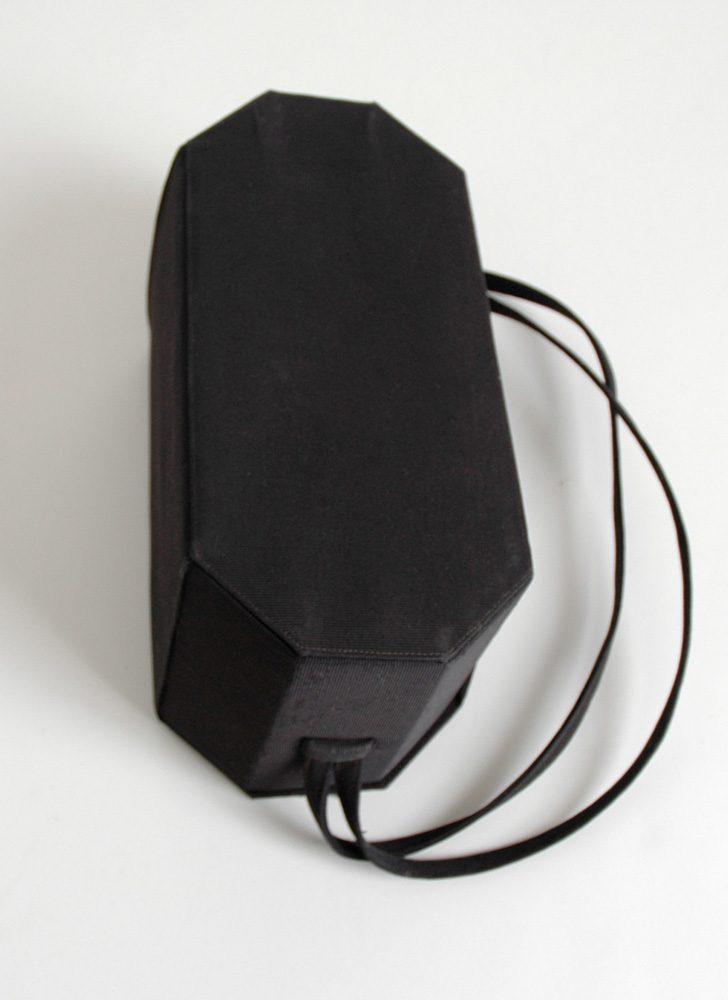 1950s Nettie Rosenstein faille box purse