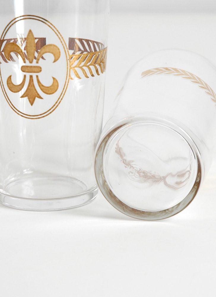 mid-century Libbey fleur-de-lis glasses