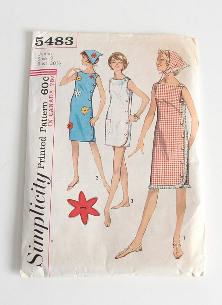 1960s Simplicity shift dress pattern 5483