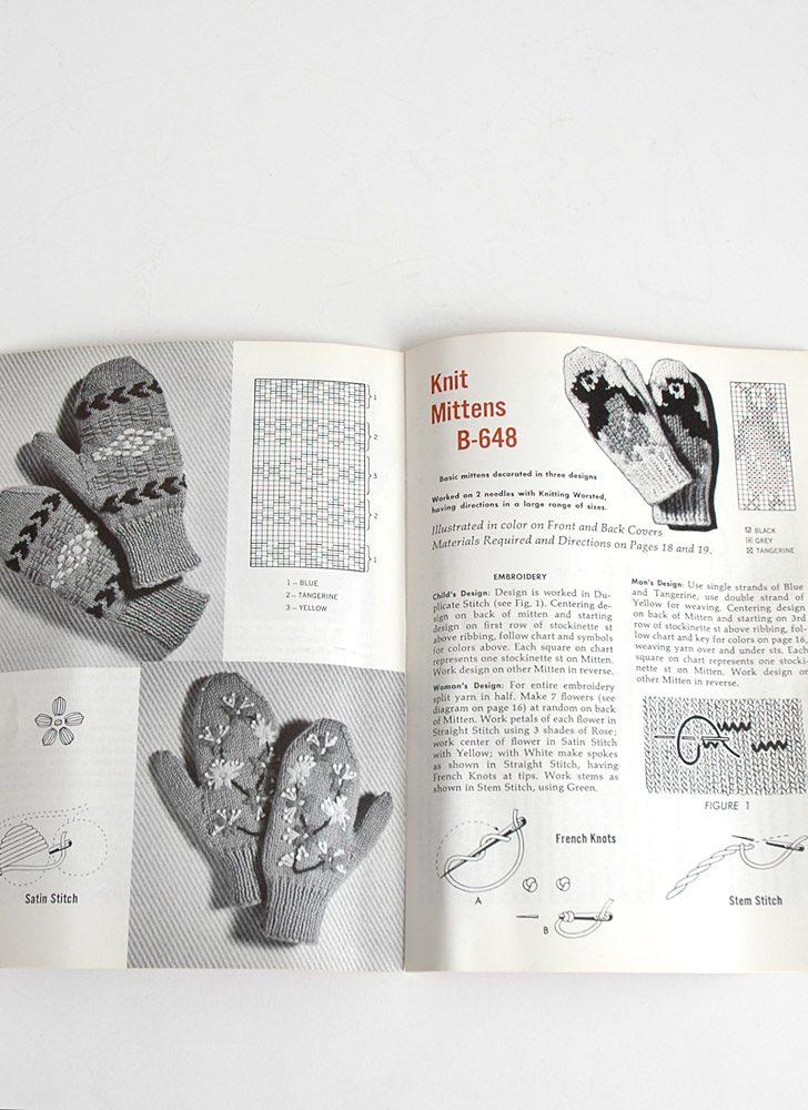 1960s Coats & Clark's socks mittens knitting pamphlet