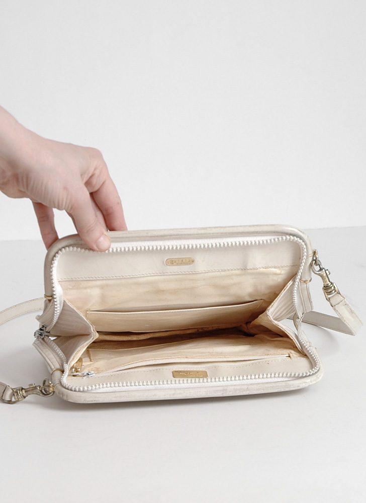 1970s Emilio Pucci fabric logo purse