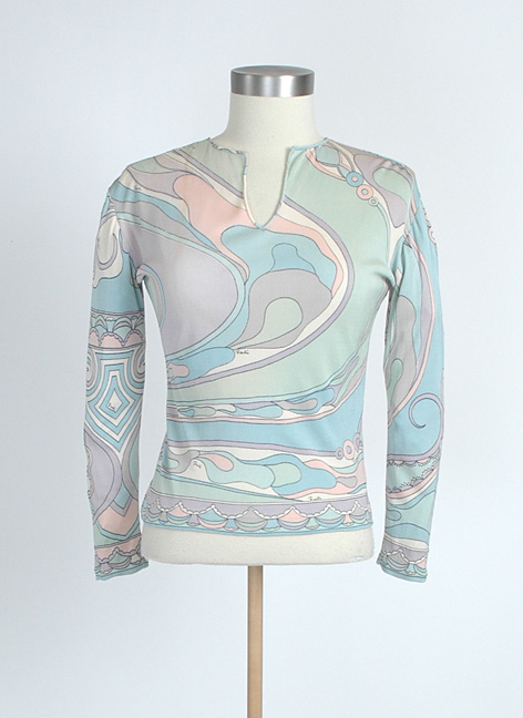 1960s PUCCI silk jersey blouse