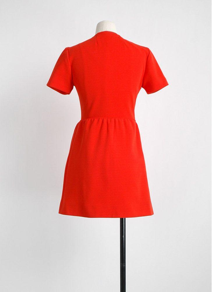1960s Stanton Jrs orange mini dress