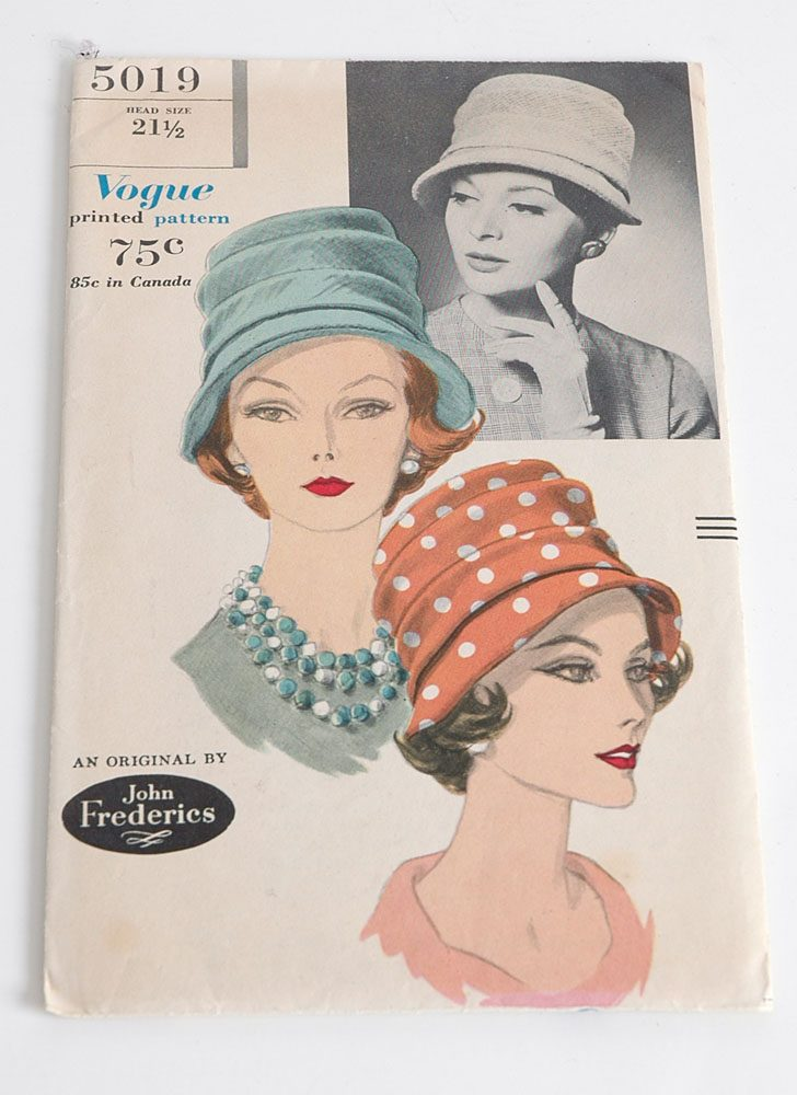 1960s Vogue 5019 hat pattern