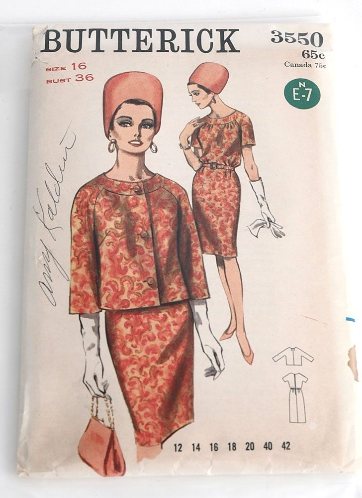 1960s Butterick 3550 dress jacket + pattern