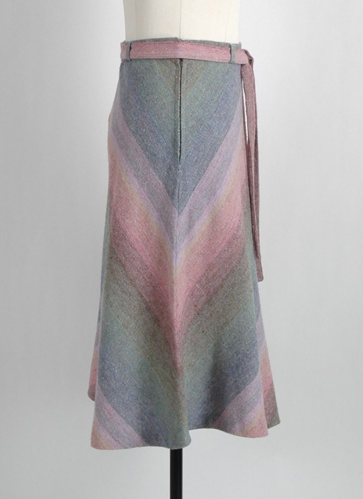 1970s pastel chevron stripe skirt