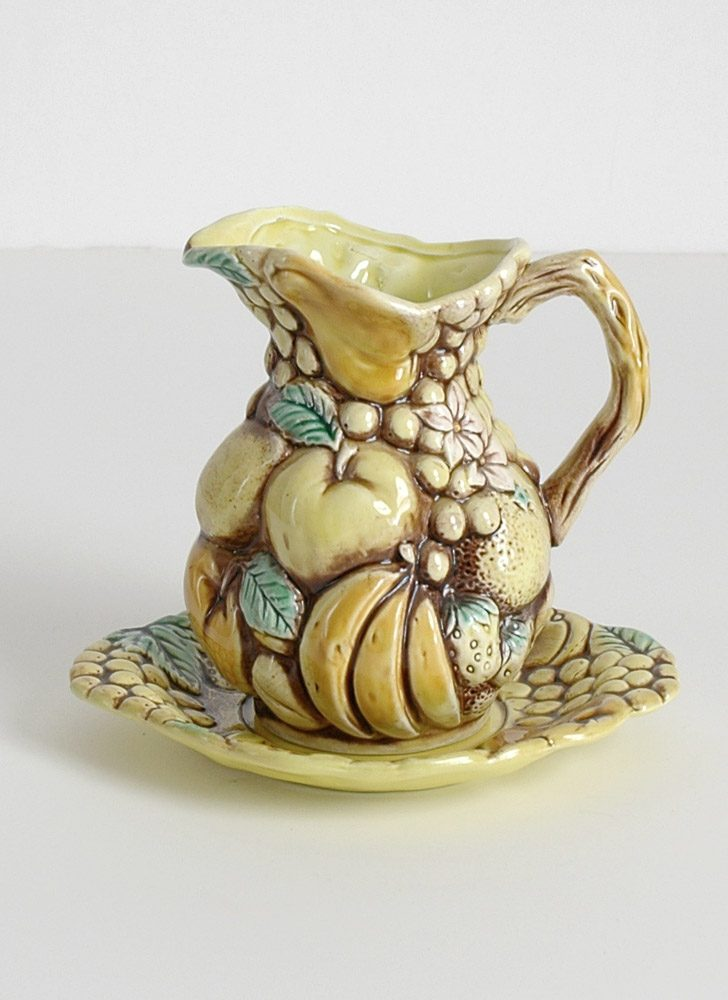 1960s 70s pitcher + plate Japan inarco ardco