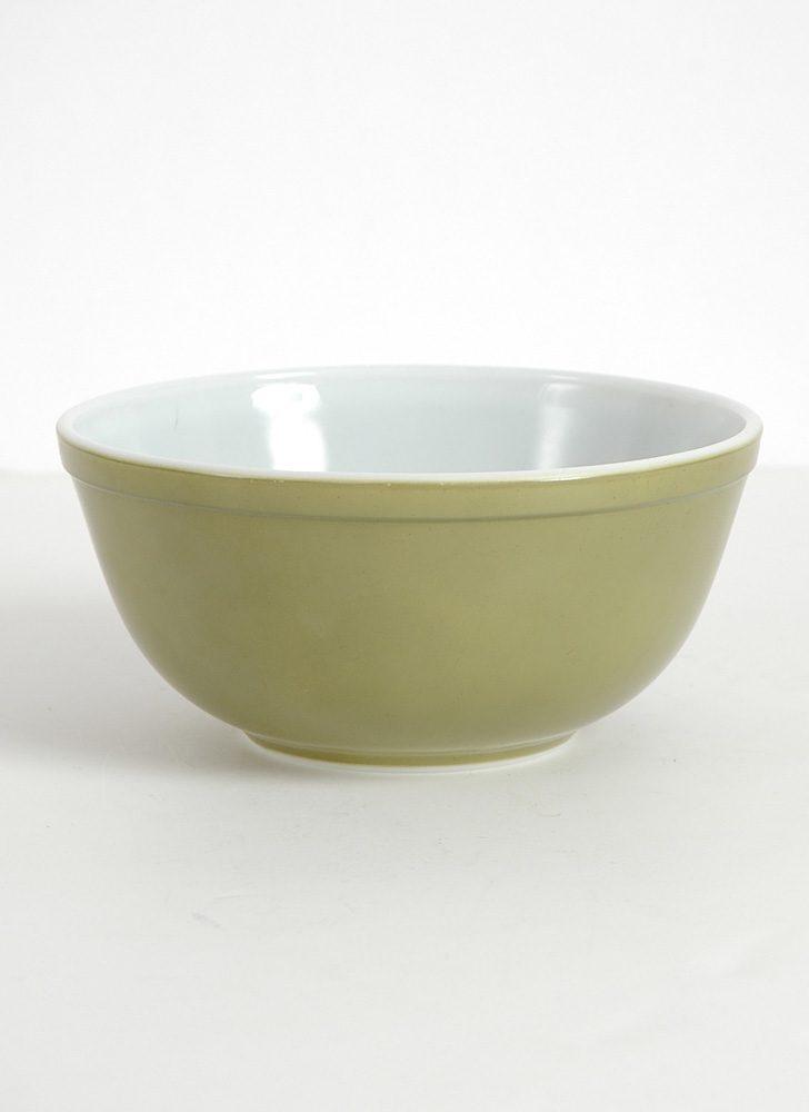 1960s 70s avocado olive green Pyrex bowl 403