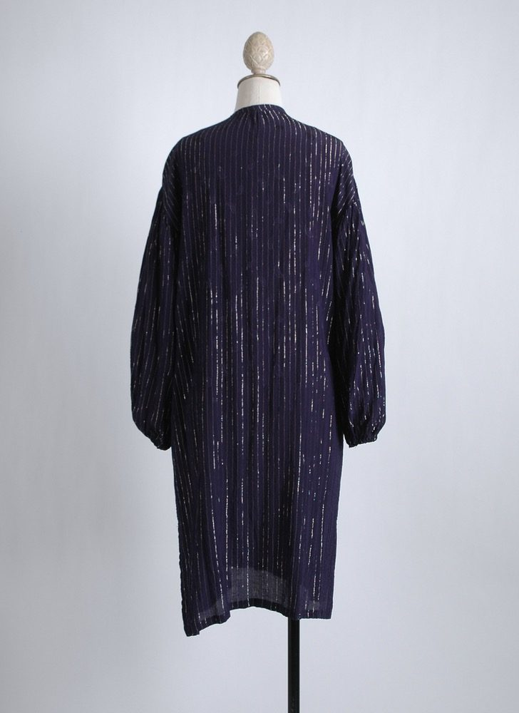 vintage rayon gold stripe lurex Indian tunic