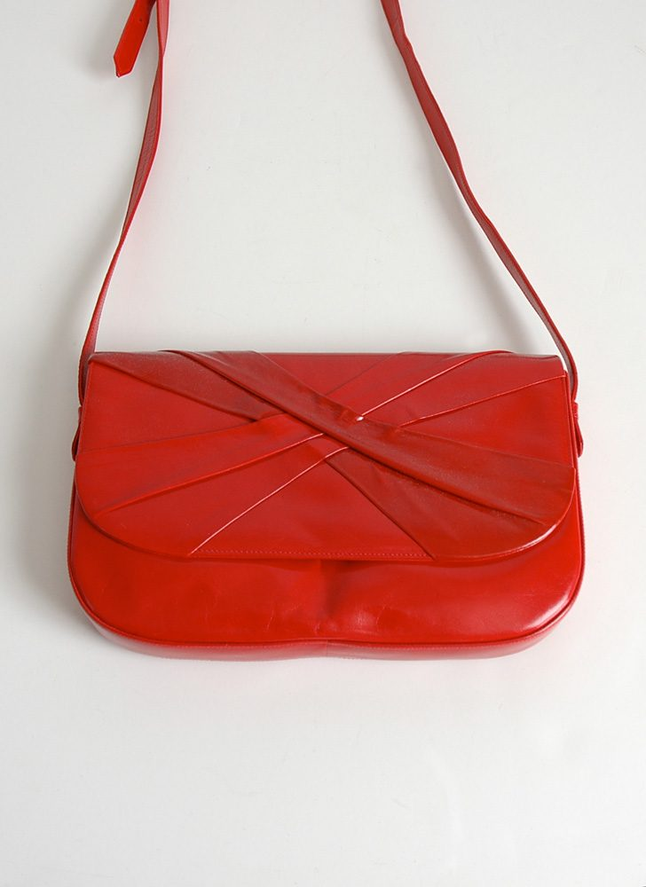 vintage Bruno Magli red leather purse
