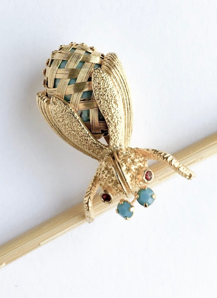 cute vintage bug pin with antennae