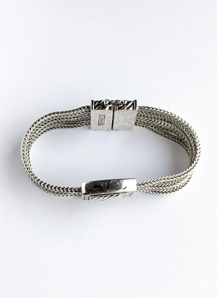 vintage Napier silver magnetic bracelet