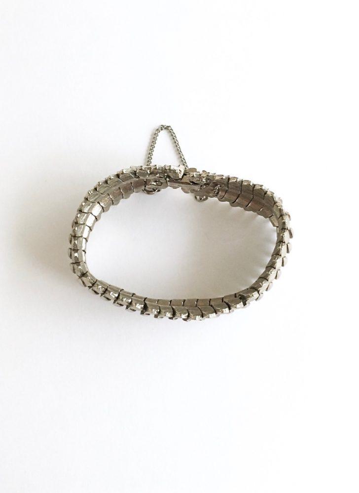 1960s 70s silver link Brutalist bracelet