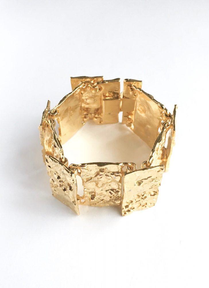 vintage gold Brutalist cuff