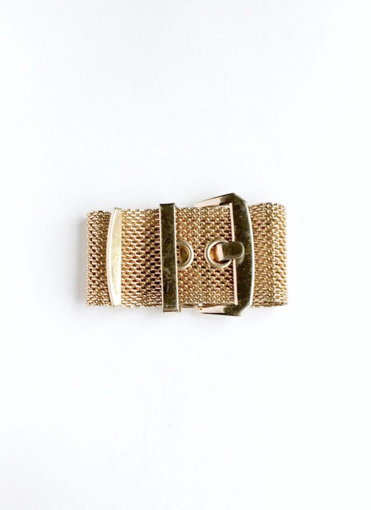vintage gold buckle cuff bracelet