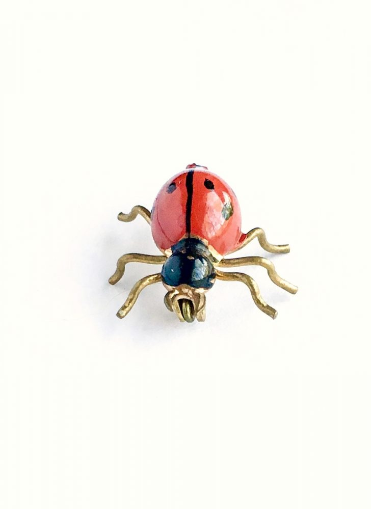 vintage enameled ladybug pin